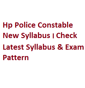 hp police constable new syllabus