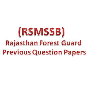 rsmssb forest guard old paper