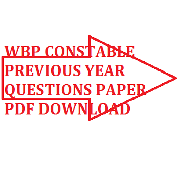 wbp constable previous year paper