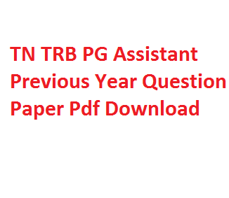 tn trb pf assistant previous paper