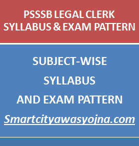 Punjab sssb legal clerk syllabus