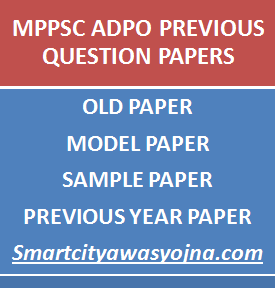 mppsc adpo previous question papers
