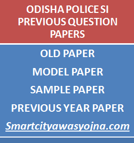 odisha police si previous papers