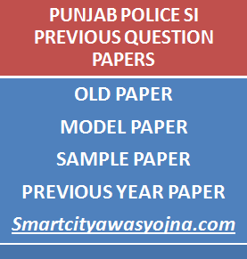 punjab police si previous papers