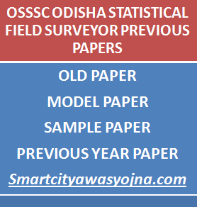 odishsa Statistical Field Surveyor previous papers