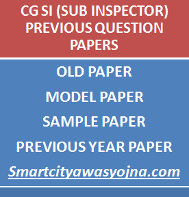 cg police si previous question papers