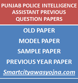 Punjab Police Intelligence Assistants Previous Question Papers