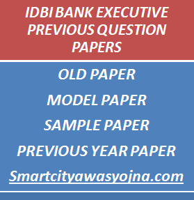 idbi bank executive previous years question papers