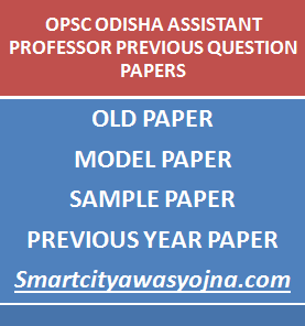 opsc assistant professor previous question papers